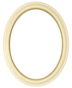 Heirloom Lacquered 12x16 Oval Frames with Gold Lip (2)