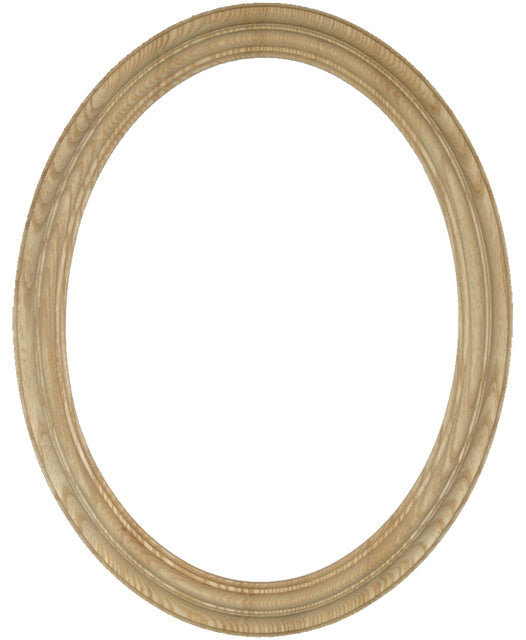 Heirloom Unfinished Ash 12x16 Oval Frame