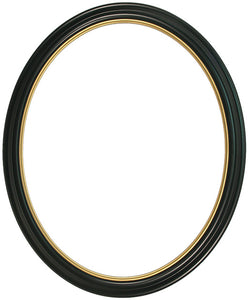 Heirloom Lacquered 16x20 Oval Frames with Gold Lip (2)
