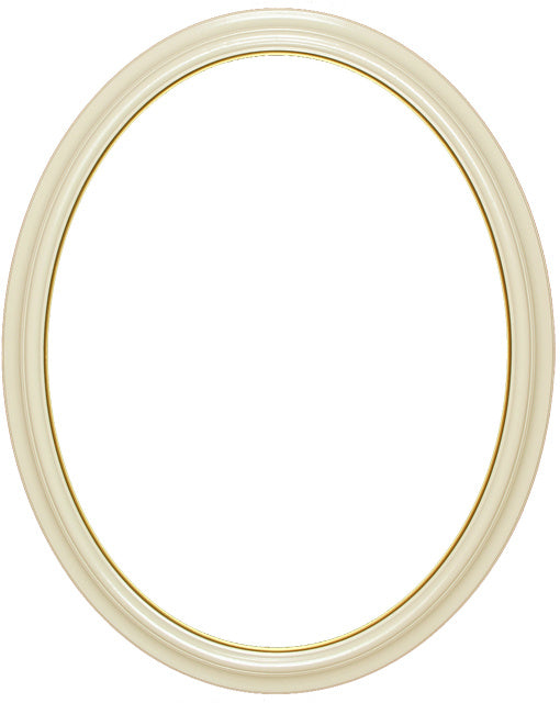 Heirloom Lacquered 22x28 Oval Frames with Gold Lip (2)