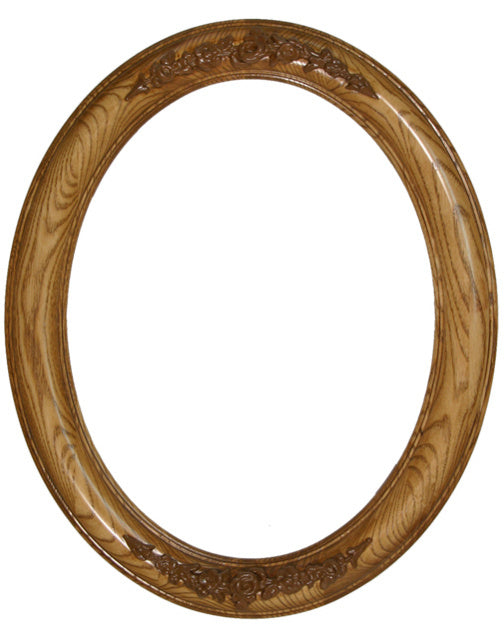 Premier Stained Ash 11x14 Oval Frames with Compo (4)