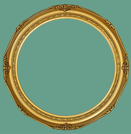 RD 14 Victorian Antique Gold Round Frame