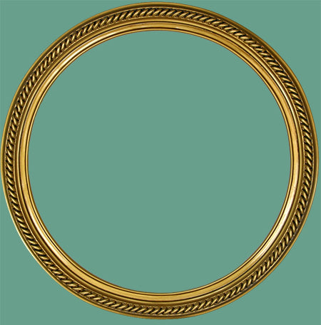 RD 15 Antique Gold Rope Round Frame