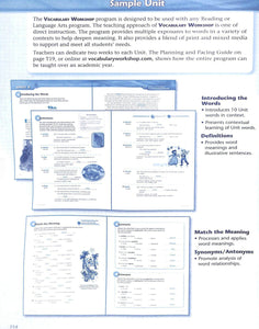 Sadlier Vocabulary Tools for Comprehension Level Green Teacher Manual