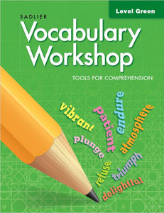 Sadlier Vocabulary Tools for Comprehension Level Green