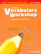 Load image into Gallery viewer, Vocabulary Workshop Level Orange Workbook