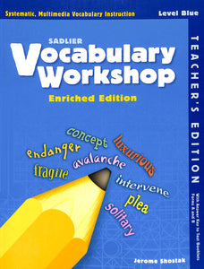 Vocabulary E Teacher Manual