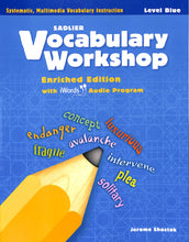 Load image into Gallery viewer, Vocabulary Workshop Level Blue Workbook