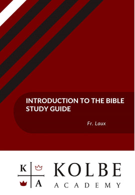 Introduction to the Bible Study Guides
