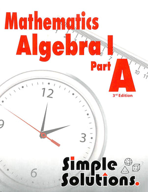 Algebra I Part A Workbook