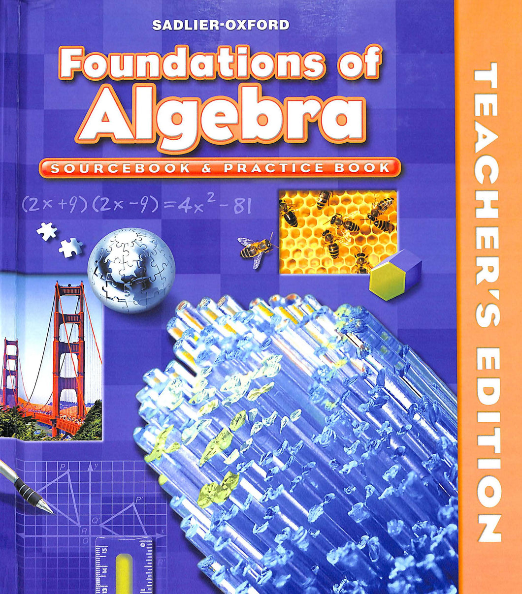 Foundations of Algebra Teacher Manual