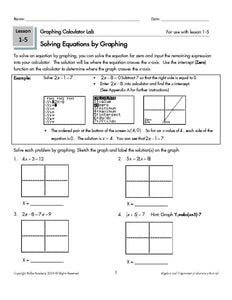 Graphing Calculator Lab Manual Student Book