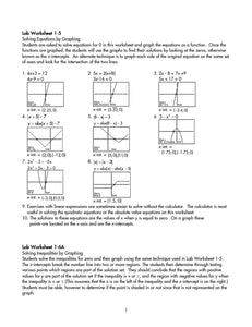 Graphing Calculator Lab Manual Teacher Manual