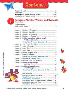 Progress in Mathematics Textbook Grade 1