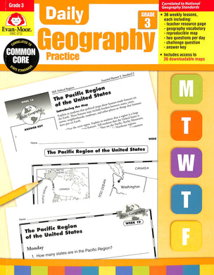 Evan-moor Daily Geography Practice 3 Teacher Manual