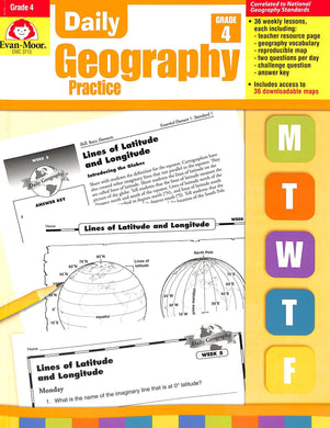 Evan-moor Daily Geography Practice 4 Teacher Manual