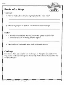Daily Geography Practice 4 Teacher Manual