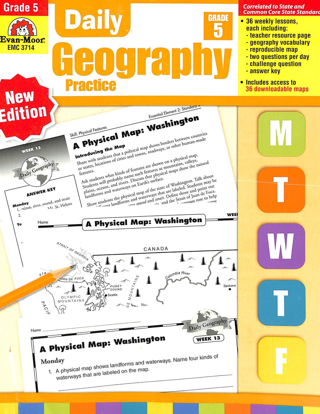 Evan-moor Daily Geography Practice 5 Teacher Manual