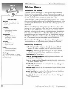 Daily Geography Practice 5 Teacher Manual