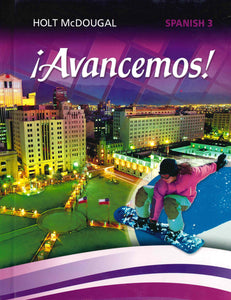 Avancemos! Spanish 3 Online Access 1 Year License- Digital Delivery