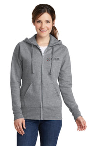 Ladies Full Zip Hoodie - Athletic Heather