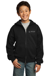 Youth Full Zip Hoodie - Black