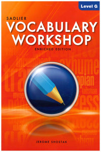 Vocabulary Workshop Level A Teacher Manual