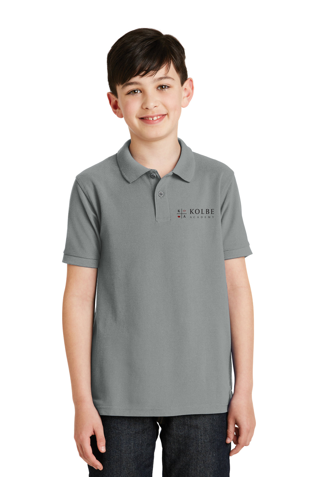 Youth Polo - Cool Grey
