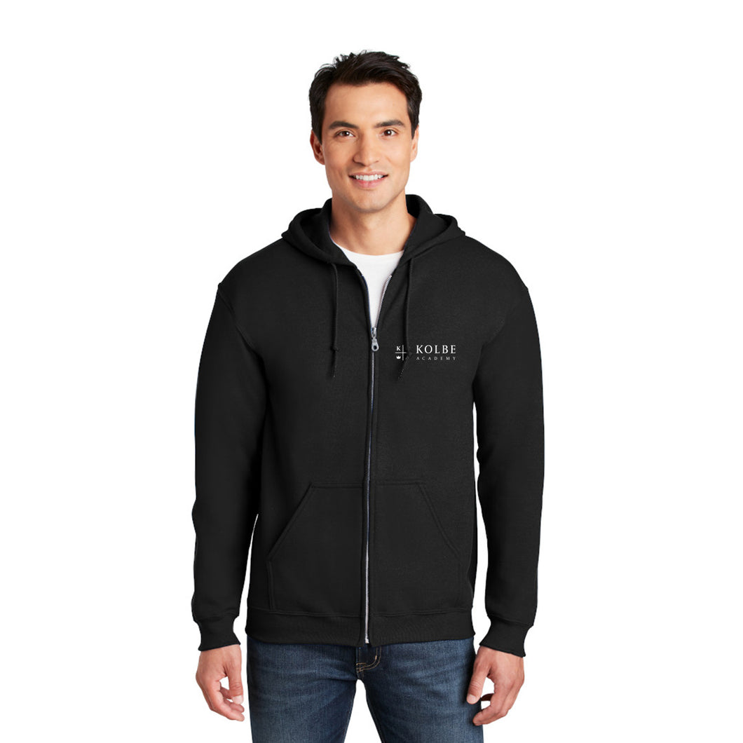 Adult Full Zip Hoodie - Black