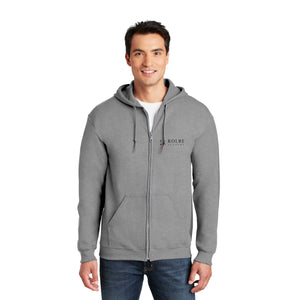 Adult Full Zip Hoodie - Sports Grey