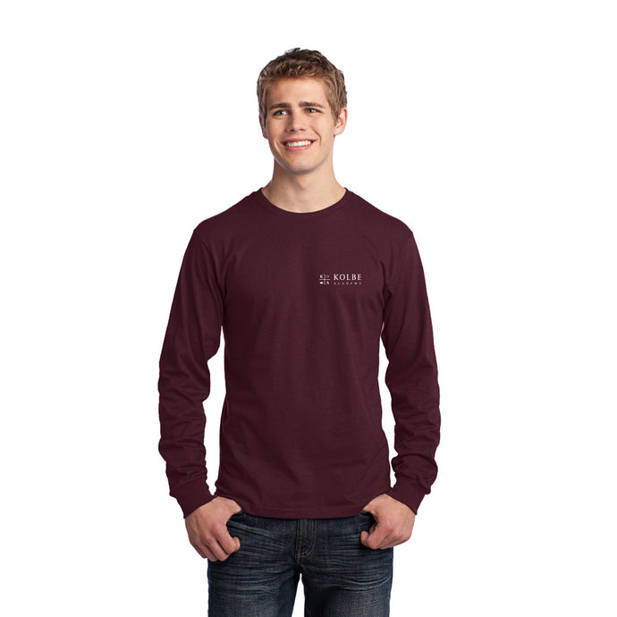 Adult Long Sleeve Tee- Athletic Maroon