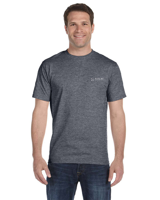 Mens Ring Spun Tee Shirt - Heathered Charcoal