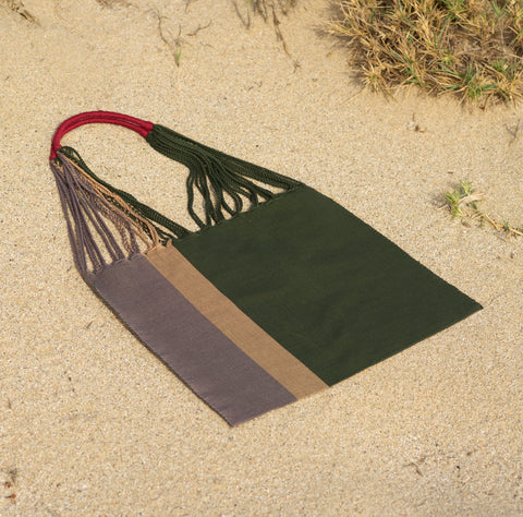 NEW - Las Rayas Tote - Verde / Heather
