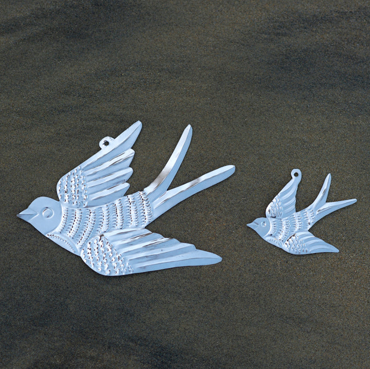 Pressed Tin Bird Ornaments