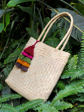 Small Woven Palm Tote