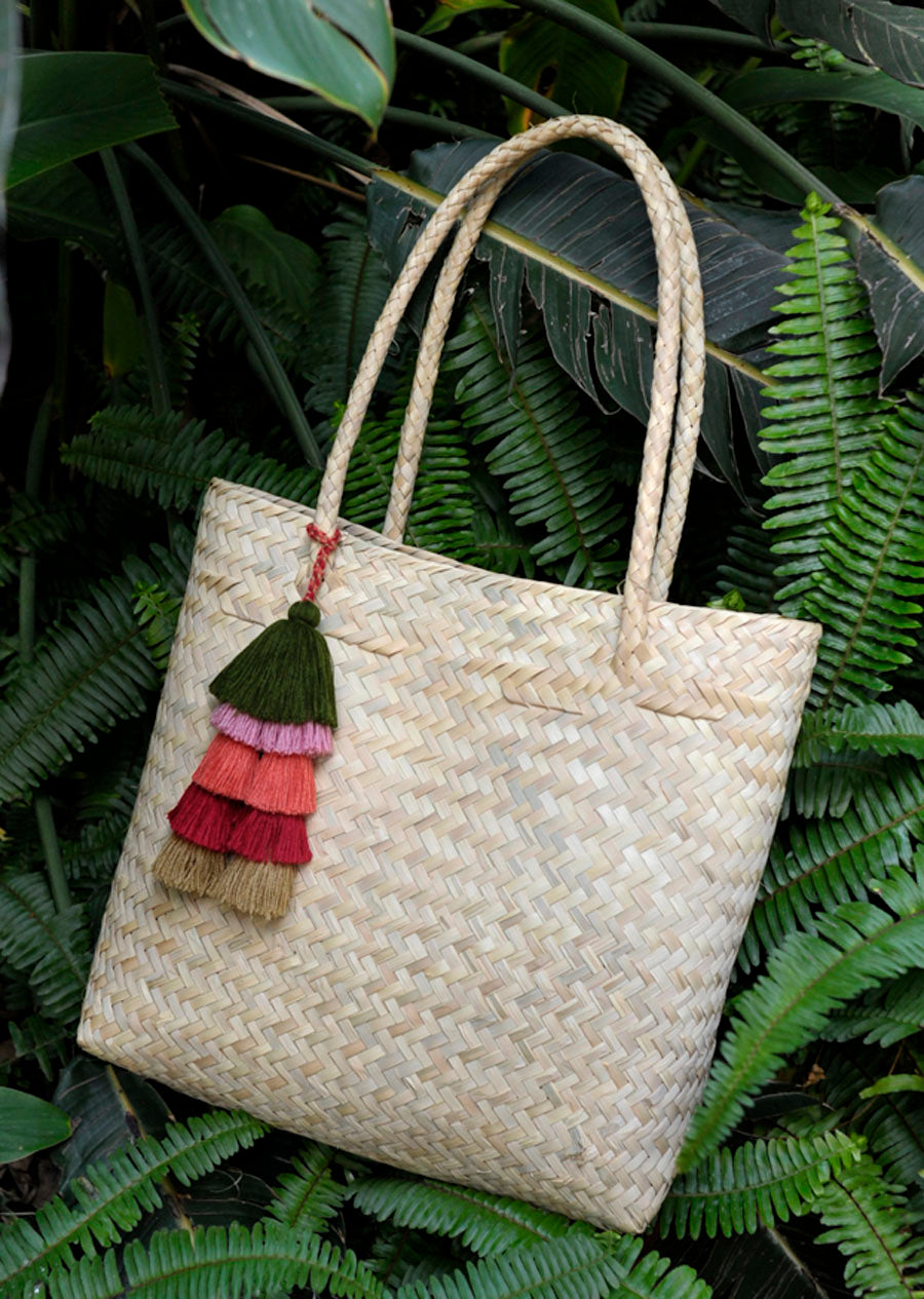 Large Woven Palm Tote