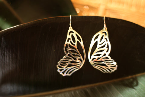Silver Earrings from Taxco - Mariposa