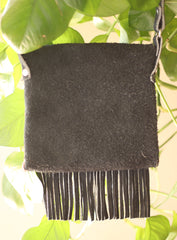 Suede Crossbody Fringe Purse