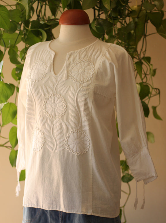 La Garceta - Cotton Embroidered Blouse