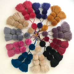 Solid Colour Pompoms - 12 Colours