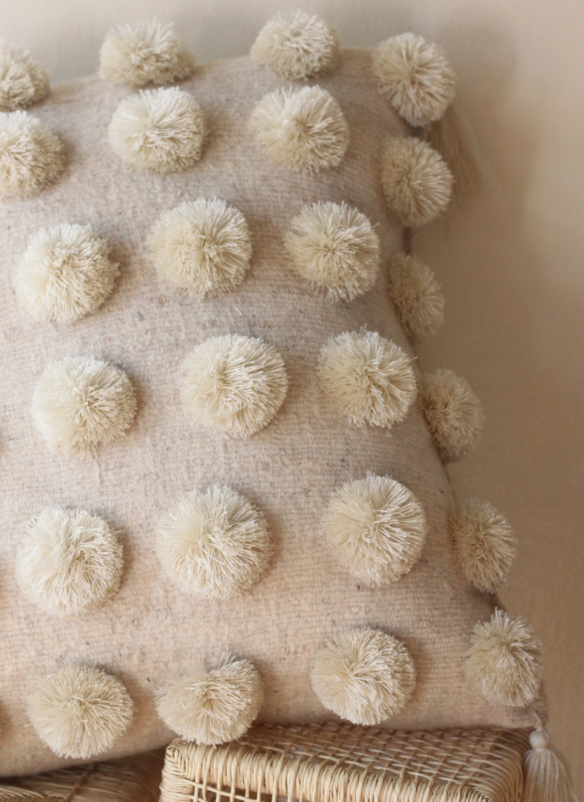 Wool Pompom Cushion