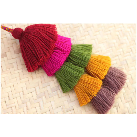 NEW - Multi Colour Tassel - Selva
