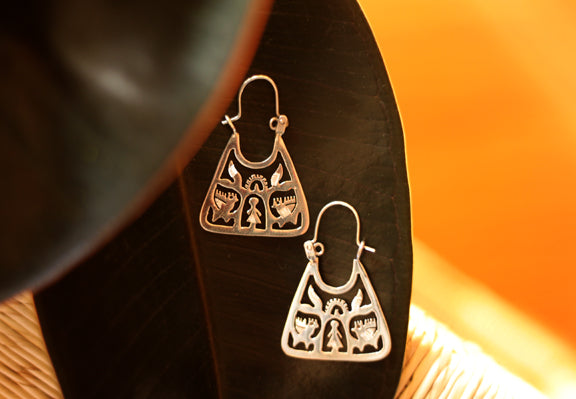 Silver Earrings from Taxco - Small Tree