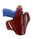 Beretta Px4 Storm 40 SW, 45 ACP, 9 MM Leather OWB 4 BBL Holster, Pusat Holster