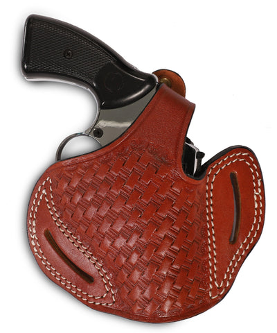 Charter Arms 357/38 Leather Basket Weave OWB 2 Holster - Pusat Holster