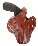 "Colt Trooper MK III 357 MAG Leather OWB 4"" Holster, Pusat Holster"