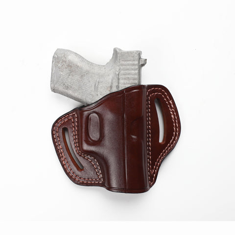 Glock 43 Subcompact 9 MM G43 Leather Pancake Sport Holster, Pusat Holster
