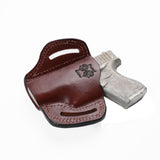 Glock 43 Subcompact 9 MM G43 Leather Pancake Sport Holster - Pusat Holster