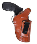 Handcrafted Leather IWB 2.5 Holster For Charter Arms Bulldog Revolver, Pusat Holster
