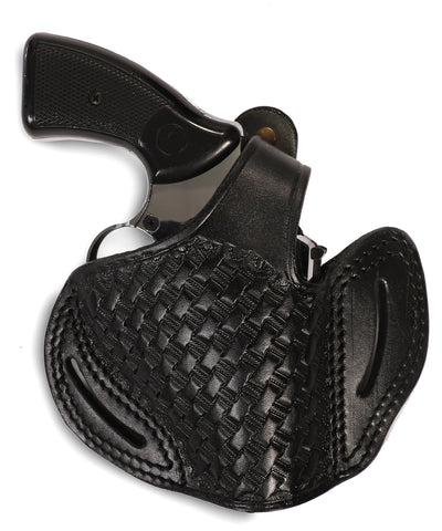 Smith Wesson 357/38 Leather Basketweave OWB Holster, Pusat Holster